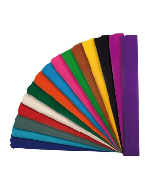 Rollo papel crespon standard 0.5 x 2.5 m