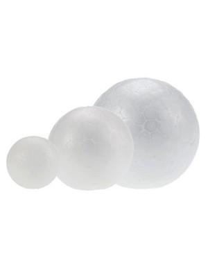 Pack 6 bolas poliespan 8 cm