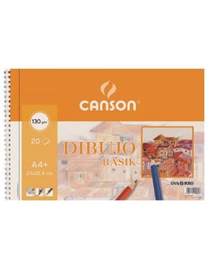 Block dibujo basik espiral A-4 + canson 0408062