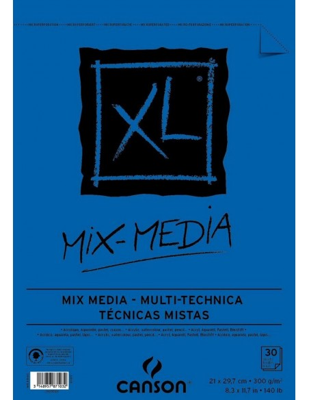 Block A-3 XL mix media canson 300 gramos 200807216