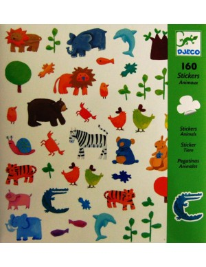 Pegatinas Animales (160 unidades) Djeco