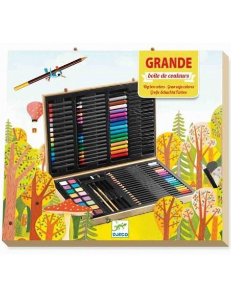 Caja de colores grande 88 piezas Djeco