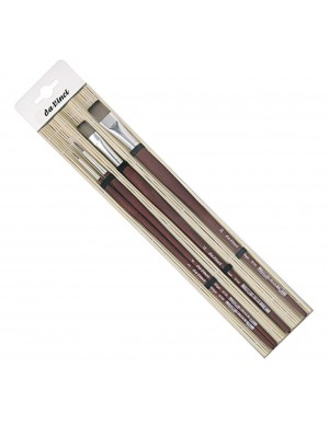 Set acrílico con almohadilla de bambú