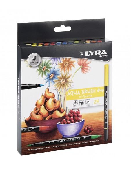 Caja 24 rotuladores Lyra Aqua Brush Duo L6521240
