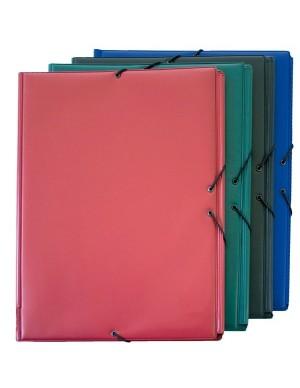 Carpeta PVC gomas y solapas tamaño folio prolongado