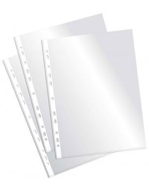 C/ 100 Fundas multitaladro Folio cristal 90 micras Pardo