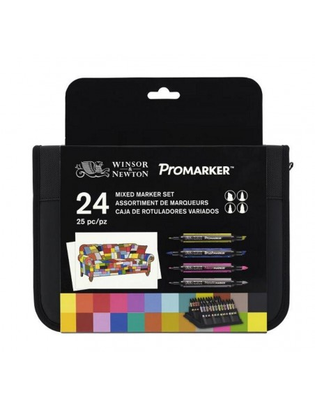Estuche ProMarker Winsor & Newton 24 rotuladores variados