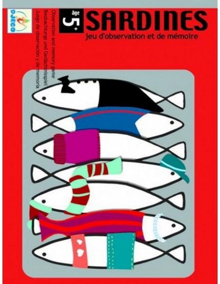 Juego observación y memoria sardinas Djeco