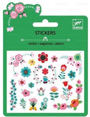 Stickers (pegatinas) flores Djeco