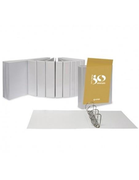 Carpeta canguro TOTAL-XS, tamaño A-4, color blanco