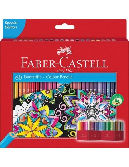 Estuche soporte de cartón con 60 lápices de colores edición especial 111260