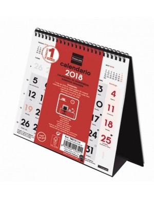 Calendario de sobremesa 14X15 cm números grandes 2018