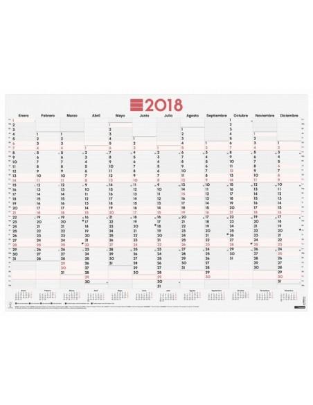 Póster planificador anual 68x48.5 cm escribir mixto 2018