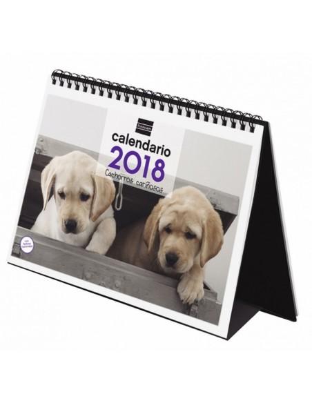 Calendario imágenes de sobremesa 21X15 cm cachorros