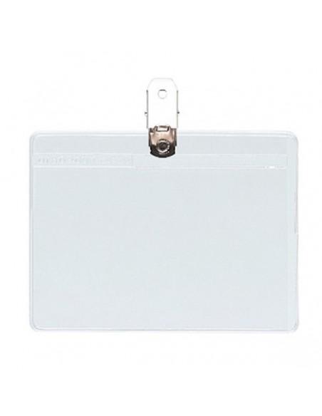 Portadistintivo Pvc flexible apaisado 57 x 95 sin pinza grafoplas 09081000