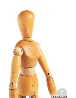 Maniquí de madera barnizada Sennelier 30 cm Hombre