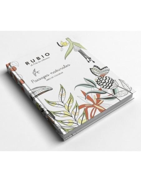 Libro colorear Rubio paisajes naturales