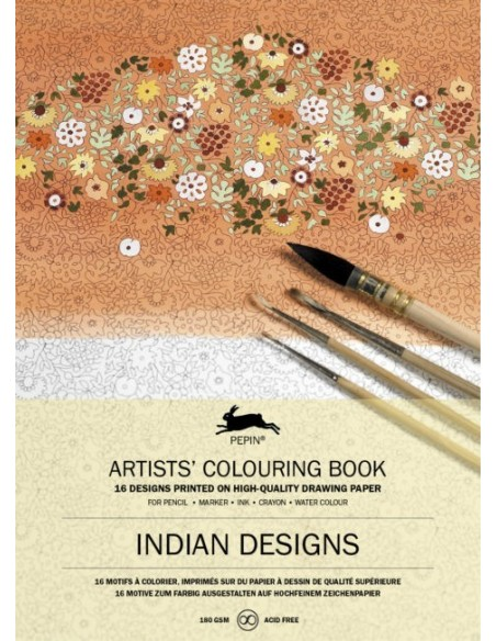 "Libro colorear Pepin Press ""Indian Designs"""