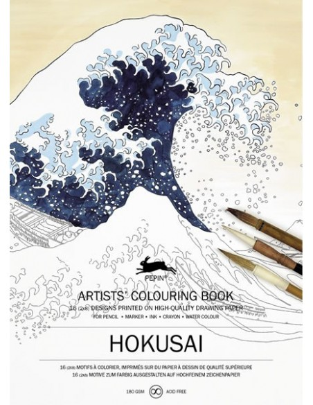 "Libro colorear Pepin Press ""Hokusai Designs"""""