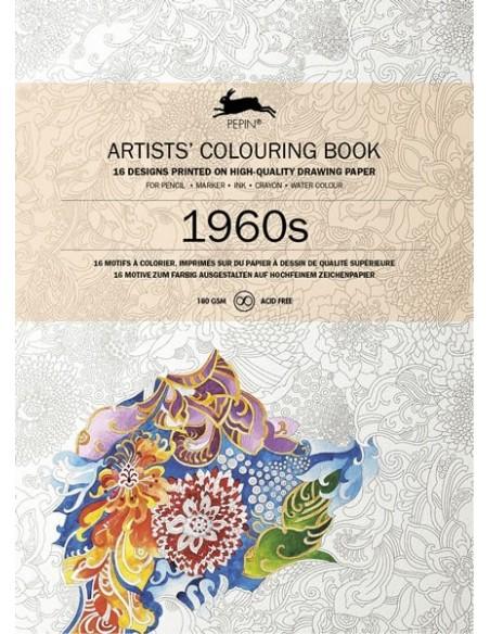 """Libro colorear Pepin Press """"1960s"""""""