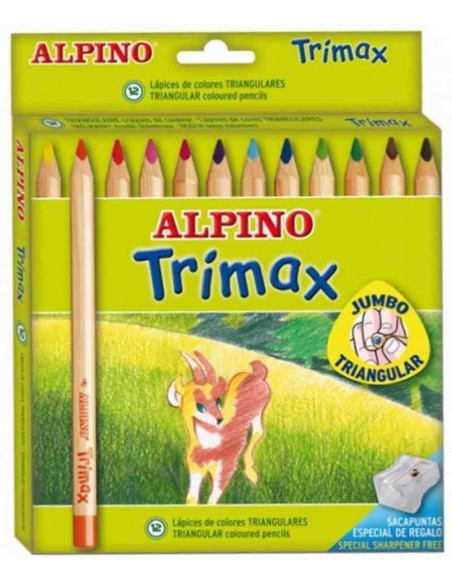 C/ 12 lápices Alpino Trimax
