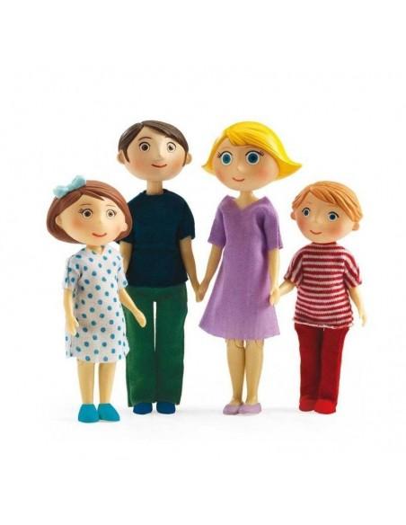 La familia de Gaspard y Romy para casa de muñecas Djeco