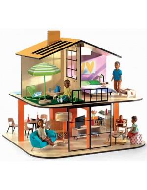 Casa de muñecas, casa color -VACÍA- Djeco