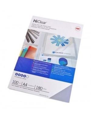 Pack 100 portadas PVC 180 mc cristal A-4