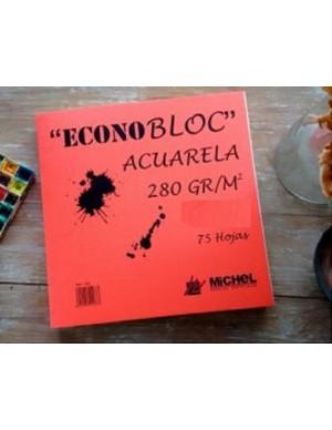 Bloc encolado acuarela 20x20 cm 280 gr/m2 Econobloc