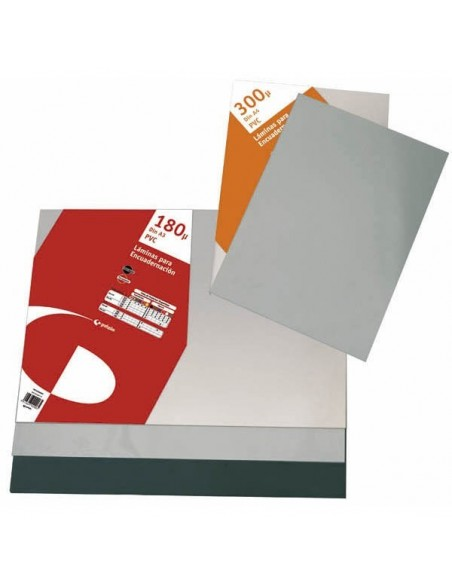 Pack 100 uds acetato PVC 300 micras cristal transparente encuadernar