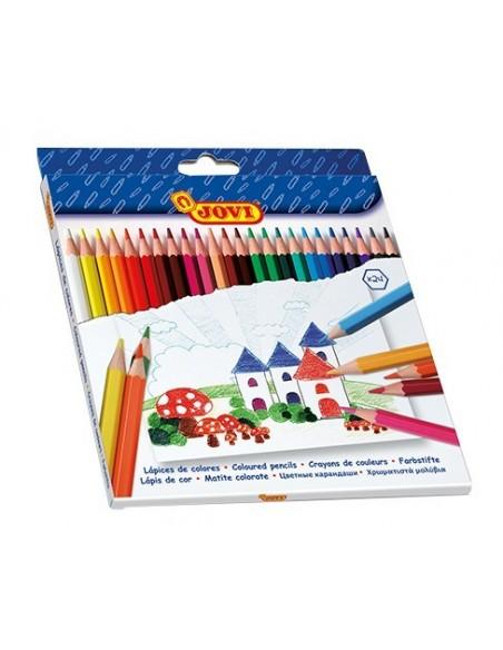 C/ 24 Lápices de colores Jovi