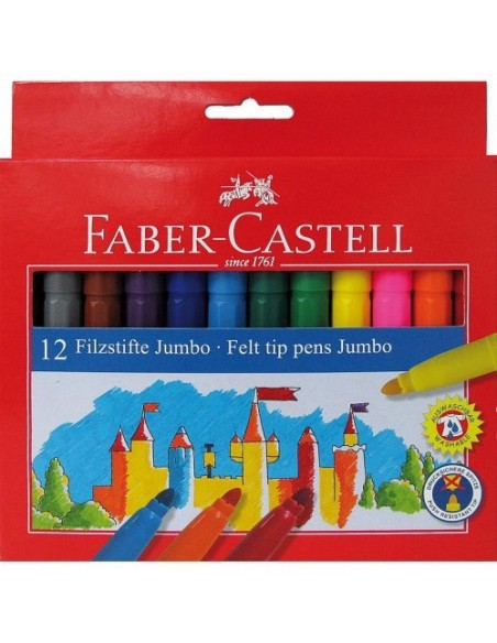 C/ 24 Rotuladores jumbo Faber Castell 554324