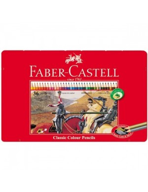 Estuche metal lápices 36 colores Faber Castell