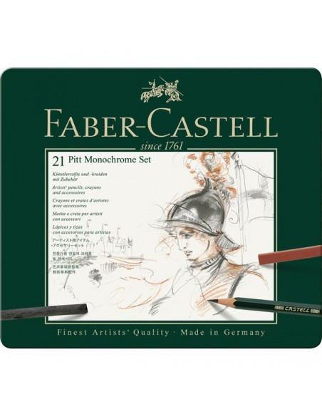 Estuche PITT monochrome 21 piezas Faber Castell