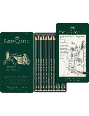 Estuche 12 lápices serie 9000 Faber -Castell 119064