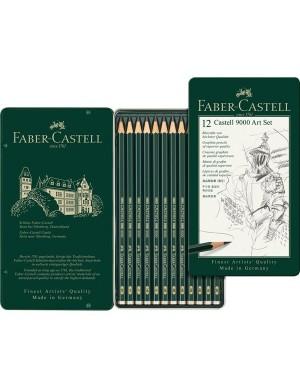 Estuche 12 lápices serie 9000 Faber-Castell 119065