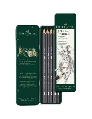 Estuche 5 lápices acuarelables Faber Castell