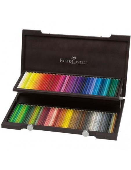 Estuche madera 120 color Polychromos Faber Castell