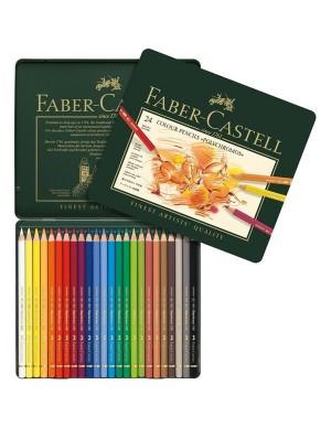 Estuche 24 color Polychromos Faber Castell 110024