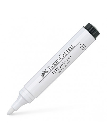 Rotulador pitt grueso blanco Faber Castell
