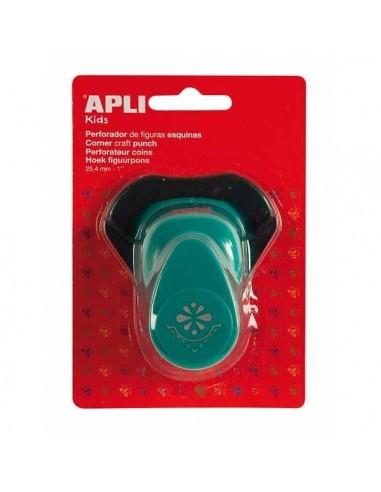 Perforadora papel esquina  flor APLI 13637