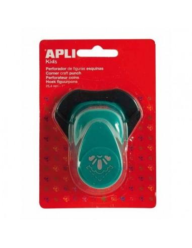 Perforadora papel esquina  1/2 flor APLI 13638
