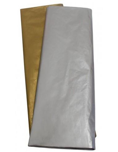 Pte. 10 hojas seda 50*76 metálico