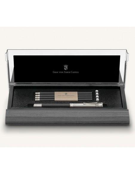 Estuche Nº I de aliso negro con lápiz perfecto con alargador bañado en platino 118518